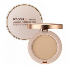 Пудра-фотошоп компактная THE SAEM Eco Soul Luminous Photoshop Pact SPF25PA++ 11g